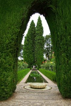 Patio de la Sultana, Alhambra, Generalife,Spain