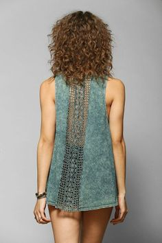 Staring At Stars Crochet-Back Tunic Top #urbanoutfitters