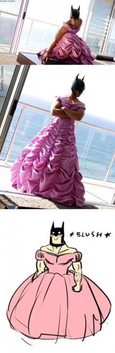 Princess Batman  // funny pictures - funny photos - funny images - funny pics - funny quotes - #lol #humor #funnypictures