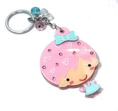 Kawaii Girl Keychain and Mirror  Laser cut acrylic by BitOfSugar, $15.00