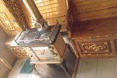 Stove inside a gypsy wagon