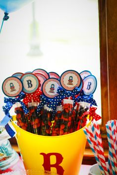 Great Party Favors... Could be made for any party. #birthday #party #favors