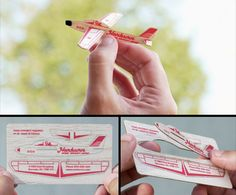 Unique business card designed for Norburn Model Aircraft Supply