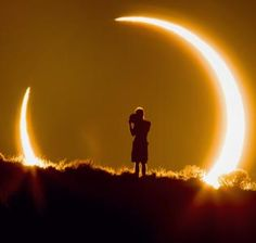 Photographer Colleen Pinski drove from Denver to Albuquerque, NM, in a day to find the perfect setting to photograph this solar eclipse May 20 (© Colleen Pinski/Caters News)