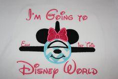 Minnie Mouse Airplaine Appliquéd Shirt for by pixiedustpiratehooks, $27.00