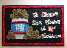 Back to School bulletin board idea- Fresh Batch of Smart Cookies!