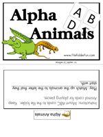 Animal Alphabet File Folder Game.  Beginning sounds match with Letter