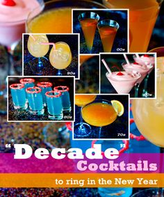 Decade Cocktails to Ring in the New Year