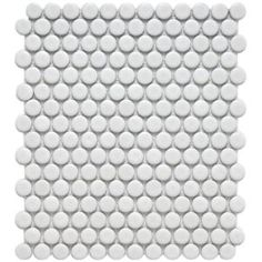 $5.94 Metro Penny Matte White 11-1/2 in. x 9-7/8 in. Porcelain Mosaic Floor and Wall Tile-FDXMPMW at The Home Depot
