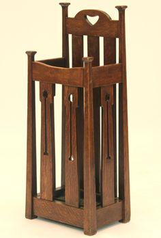 Liberty & Co. - Umbrella & Walking Stick Stand. Oak. England. Circa 1900.