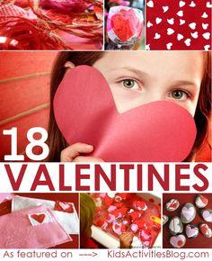 18 Valentine Crafts for Kids