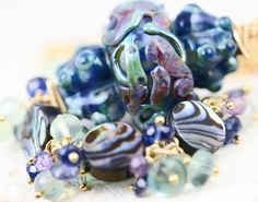 oOo SALE oOo  60 off  Glass Lampwork Cluster by JewelsByLDesigns, $82.00
