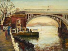 Richmond Lock Footbridge, painted 1977 Evelyn Fulluck