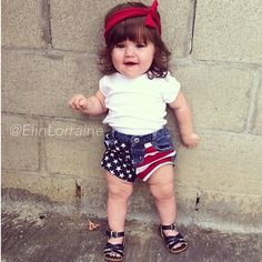 Awesome 4th of July baby outfit