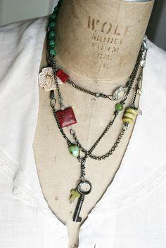 Antique Key Necklace by Rebecca Sower, via Flickr