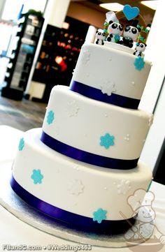 satin ribbon, snow flake, wedding cakes, custom quot