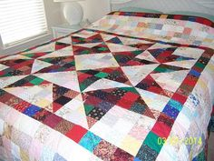 WOW!!! She hand quilted this!