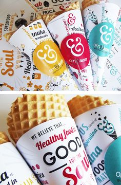 Om Ice Cream brand by Charlotte Estelle Littlehales, via Behance. Who wants some ice cream #packaging PD