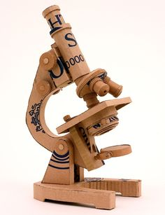 Cardboard Microscope. Artist is Chris Gilmour