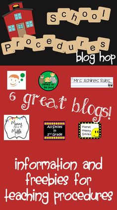 It's a blog hop!  Learn from 6 different bloggers how they handle teaching procedures!