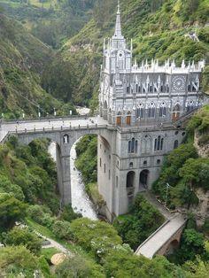 las lajas cathedral, colombia.