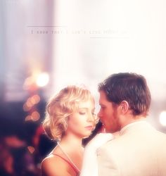Caroline & Niklaus. <3   I love it when Klaus shows his soft side whenever he's with Caroline. :)