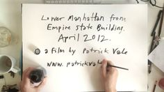 Empire State of Pen by BigAnimal. Timelapse video of artist Patrick Vale drawing the view of the Manhattan skyline from the Empire State Building.