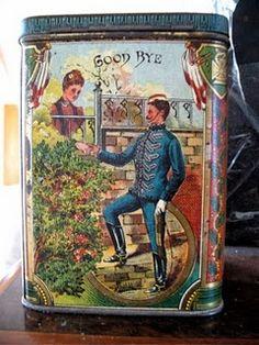 Antique patriotic English tea tin