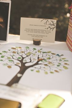 Thumbprint Tree -- instead of a guest book