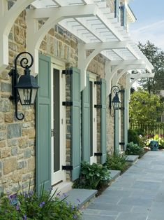 traditional design, color, garage doors, shutter, front doors, hous, ranch style homes, pergola, trelli