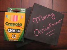 Ten June: Chalkboard coaster DIY