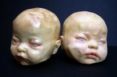 """White Chocolate Baby Heads /// """"You're so cute, I could eat you"""" :D"""
