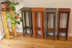 Wooden Plant Stand...and style....paint colors???