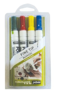 Porcelain 150 Marker Sets: Draw or write on china, porcelain, ceramic, tile, metal etc and then bake it to make it permanent. The resulting finish is permanent, microwave and dishwasher safe and nontoxic.