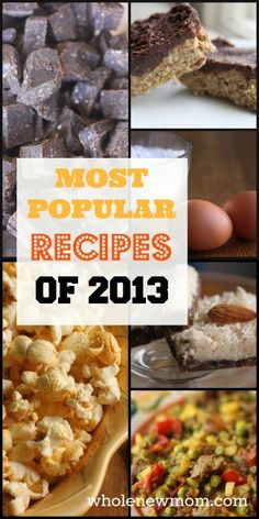 Best Healthy Recipes of 2013 from my Healthy Recipe Blog