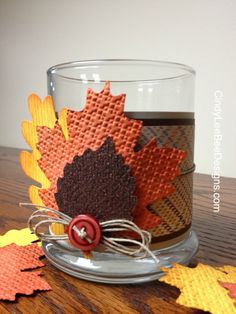 by Cindy Brumbaugh, CindyLeeBeeDesigns.  SU Autumn Accents Bigz Candle