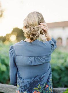 Beautiful soft wedding hair style by Jess Wilcox // Jen Huang Photography