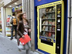 """From 2005: """"Readers craving Homer, Baudelaire or Lewis Carroll in the middle of the night can get a quick fix at one of the French capital's five newly installed book vending machines."""""""