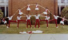 cheer vintag, cheer pyramids, vintage cheerleader, vintag cheer, lamar univers