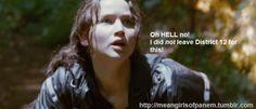 Oh hellllll no! #katniss #hungergames #meangirls