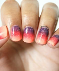 Glitter and Nails: Sunset Gradient