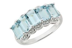 Aquamarine & diamond ring. Is your birthday in March?