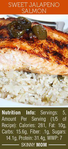 Sweet Jalapeno Salmon - 280 calories