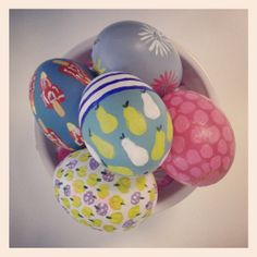 Egg Painting with Boden print designs.