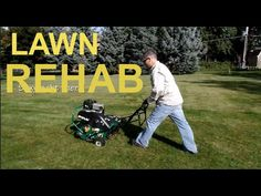 Lawn rehab - aeration, overseeding and starter fert #lawncarevlog The Lawn Care Nut
