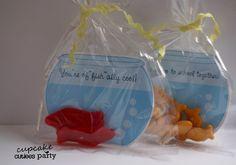 valentine crafts, cupcak, fish bowl, valentine day, valentine cards, fishing party, valentines day party, card crafts, parti