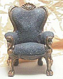 Cast Resin Wingback Dollhouse Chair