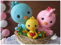 cake, porcelana fria, fimo, easter, andréia akita, polym clay, polymer clay, birds, bird famili