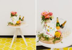 a champagne bar + cake go so well together!