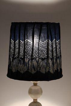 dark blue lampshade